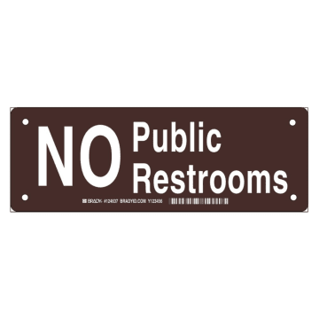 No Public Restrooms