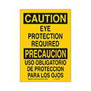 Bilingual Caution Eye Protection Required