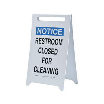 Notice Restroom Closed for Cleaning