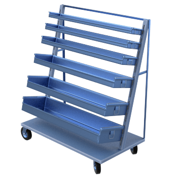 Large Capacity Customizable Metal Bin Carts