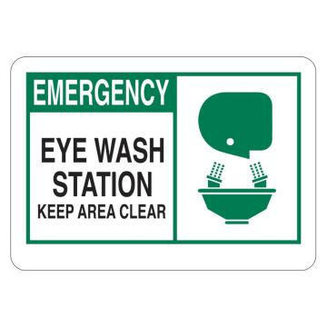 Emergency Eye Wash Station Keep Area Clear