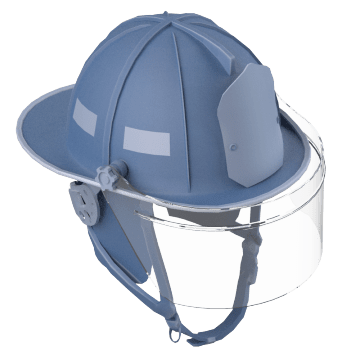 Traditional Firefighting Helmets with Rear Brim
