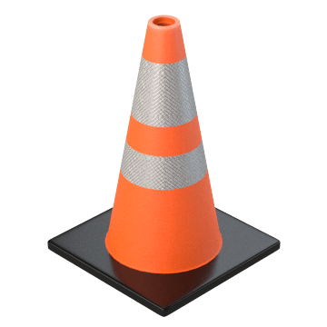 Traffic Cones for Roadwork