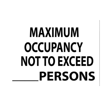 Maximum Occupancy Not to Exceed [___] Persons