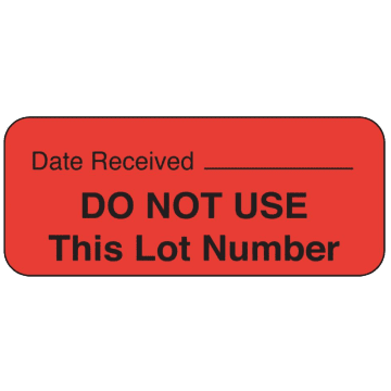 Do Not Use This Lot Number