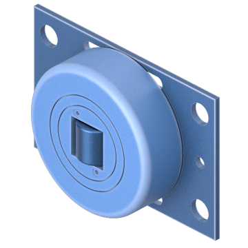 U-Profile Rollers with Flange Plate