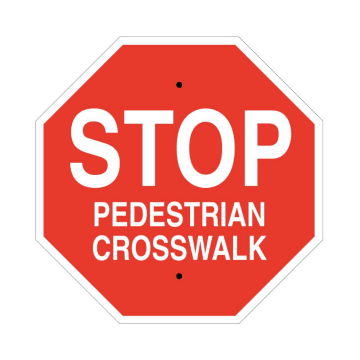 Stop Pedestrian Crosswalk