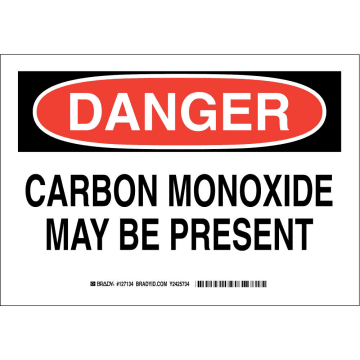 Danger Carbon Monoxide May Be Present