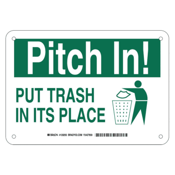 Pitch In Put Trash in Its Place