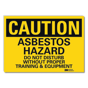 Caution Asbestos Hazard Do Not Disturb
