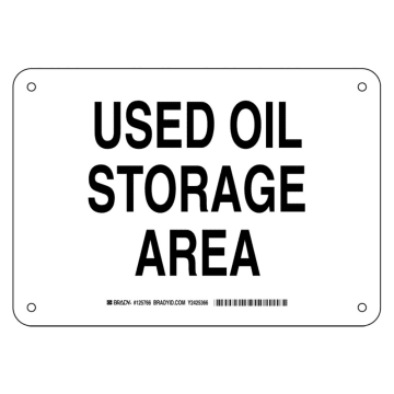 Used Oil Storage Area