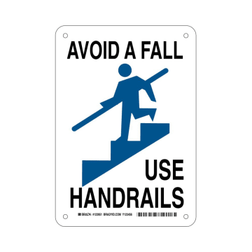 Avoid A Fall Use Handrails