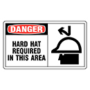 Danger Hard Hat Required in This Area