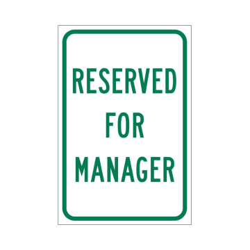 Reserved for Manager