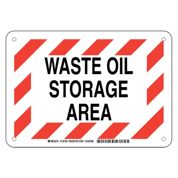 Waste Oil Storage Area
