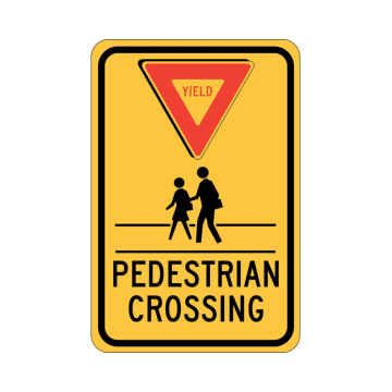 Yield Pedestrian Crossing