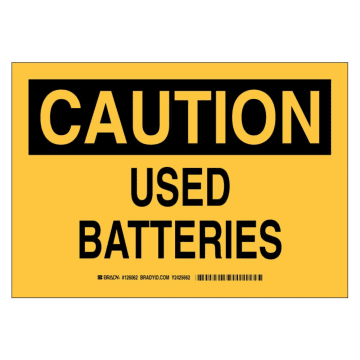 Caution Used Batteries