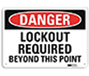 Danger Lockout Required Beyond This Point