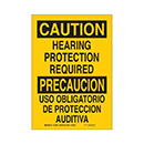 Bilingual Caution Hearing Protection Required