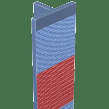 Three-Way Reflective T-Posts