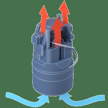 Flow-Thru Motor