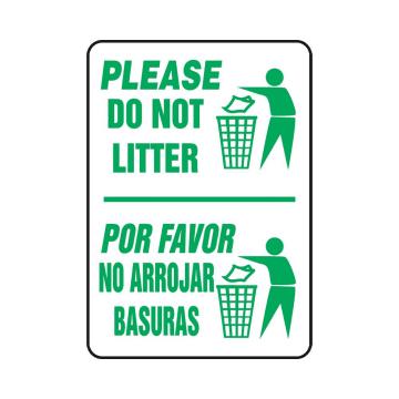 Bilingual Please Do Not Litter