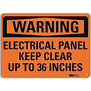 Warning Electrical Panel Keep Clear up to 36 Inches