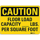 Caution Floor Load Capacity [___] Lbs. Per Square Foot