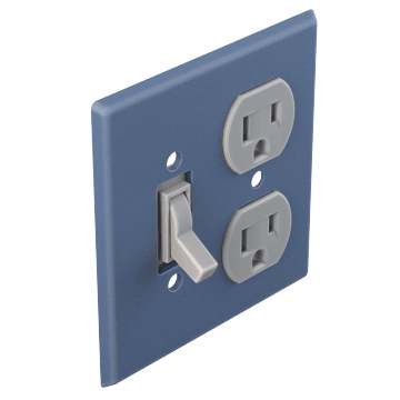Toggle Switch & Duplex Outlet Plates