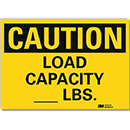 Caution Load Capacity [___] Lbs.
