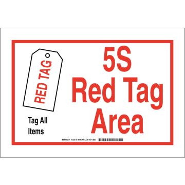 5S Red Tag Area