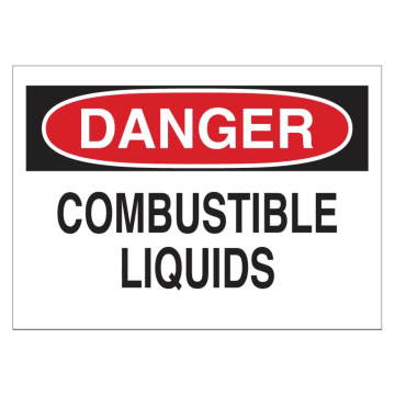 Danger Combustible Liquids