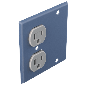 Duplex Outlet & Blank Plates