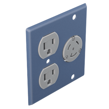 Duplex Outlet & Round Receptacle Plates