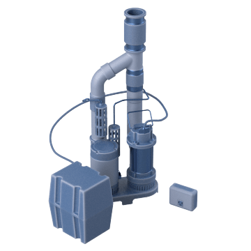 Combination Primary & Battery Backup Sump Pump Systems