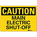 Caution Main Electric Shut-Off