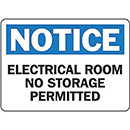 Notice Electrical Room No Storage Permitted