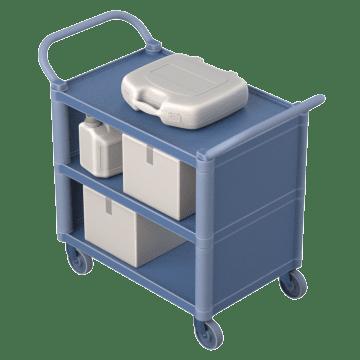 Reversible Dual-Handle Enclosed Shelves