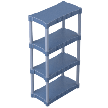 With Solid Shelves