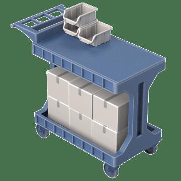 Easy Load & Unload Flush Shelves with Flip Gates