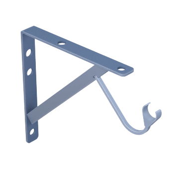 Shelf Brackets with Rod Support