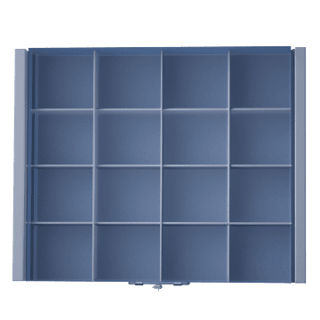 16 Fixed Compartments per Drawer