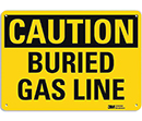 Caution Buried Gas Line