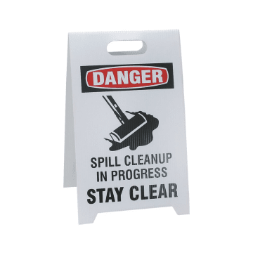 Danger Spill Cleanup in Progress Stay Clear