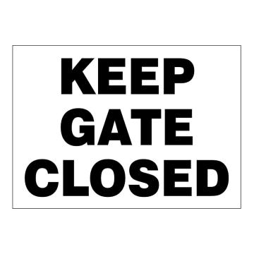 Keep Gate Closed