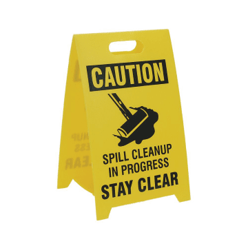 Caution Spill Cleanup in Progress Stay Clear