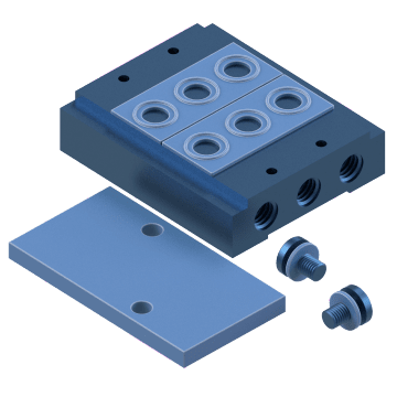 One-Touch Manual Override Series Manifolds