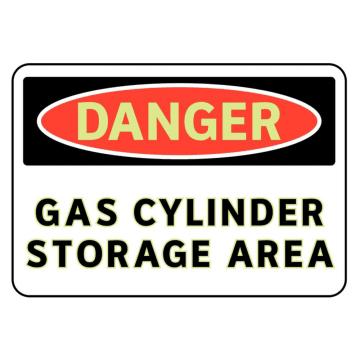 Danger Gas Cylinder Storage Area
