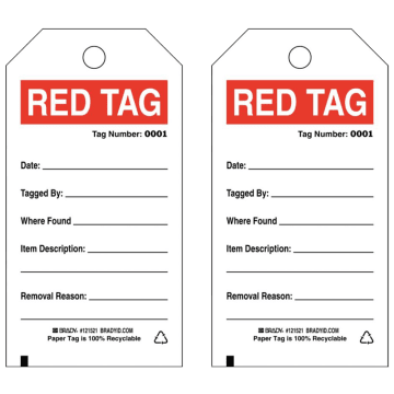 Brief Red Tags