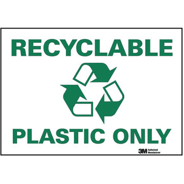 Recyclable Plastic Only